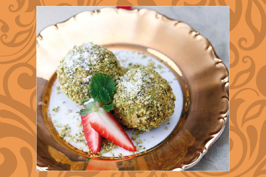 Das vegane Rezept der Woche: Marillenknödel mit Pistazienmantel