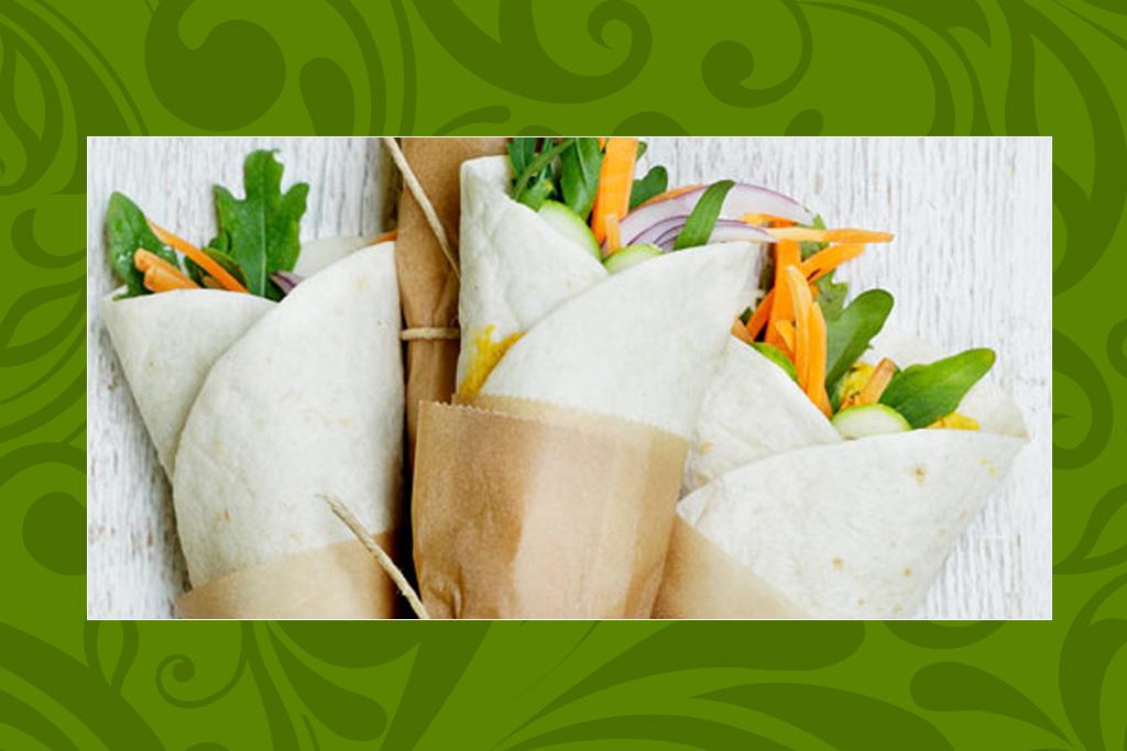 Das vegane Rezept der Woche: Wraps mit Karottenhumus und Ruccola